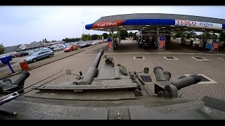 Download Going to the petrol station in a Tank to fill up Video