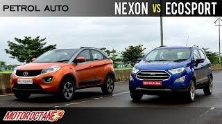Download Tata Nexon Petrol AMT vs Ford Ecosport Auto Comparison | Hindi | MotorOctane Video
