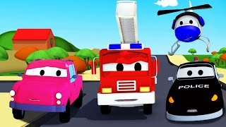 Download The Car Patrol: fire truck and police car and the lost Pickup Truck in Car City | Cartoon for kids Video