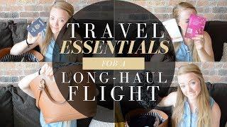 Download Travel Essentials For a Long-Haul Flight Video