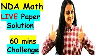 Download NDA MATH LIVE PAPER SOLVING with TIPS and TRICKS Video