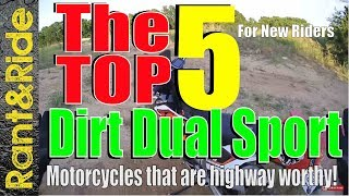 Download Top 5 Best Dirt Dual Sport Motorcycles that work well on the Highway (Lightweight Dual Sport) Video