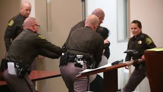 Download Man struggles against deputies as he is sentenced for murdering a 4-year-old (Graphic Content) Video