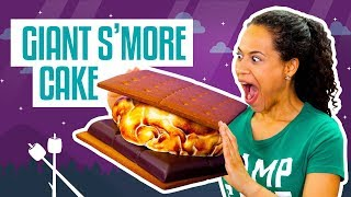Download How To Make A Giant S'Mores CAKE | Fluffy Marshmallow Fondant | Yolanda Gampp | How To Cake It Video