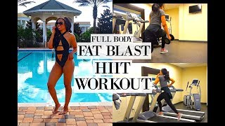 Download FAT BURNING HIIT WORKOUT   FULL BODY VACATION WORKOUT ROUTINE TO LOSE WEIGHT Video