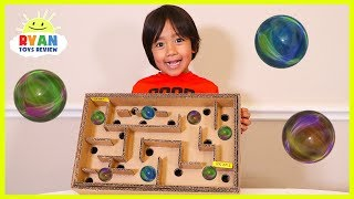 Download DIY Homemade Marble Labyrinth Maze Board Game from cardboard Video