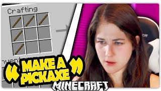 Download GIRL PLAYS MINECRAFT FOR THE FIRST TIME Video