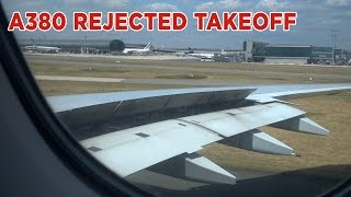 Download Airbus A380 Aborts Takeoff After Engine Failure Video