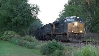Download EMD SD40-2 Trailing on CSX Trash Train 4K Video