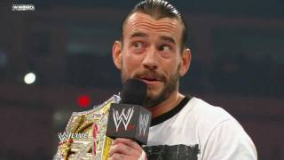 Download Raw - CM Punk proclaims he will be an agent of change Video