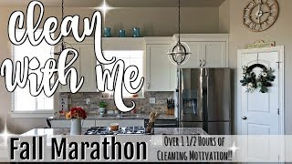 Download FALL CLEAN WITH ME MARATHON :: OVER 1 1/2 HOURS OF INSANE CLEANING MOTIVATION :: CLEANING ROUTINE Video