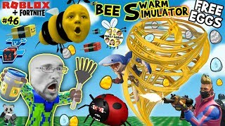 Download ROBLOX BEE SWARM SIMULATOR FREE EGGS from FORTNITE! (FGTEEV Honey Tornado #46) Video