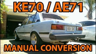 Download KE70 / AE71 Corolla Auto to Manual Gearbox Conversion Video