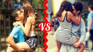 Download KISSING BATTLE - Who Is The BEST Kisser Social Experiment! Video