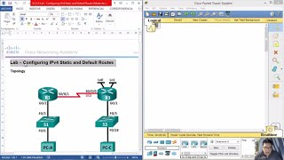 Download 2.2.2.5 - 6.2.2.5 Lab - Configuring IPv4 Static and Default Routes Video