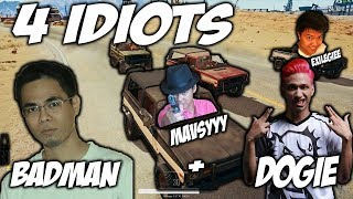 Download PUBG-THE ADVENTURE OF FOUR IDIOTS ft. BADMAN , DOGIE AND EXILE GIEE #1 Video