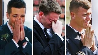 Download Emotional Grooms Cry When They See Their Lovely Brides Video