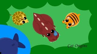 Download GIRAFFE, BLUE WHALE, AND TIGER SLAUGHTER T-REXES AND KRAKENS IN MOPE.IO! // Cat Origins Video