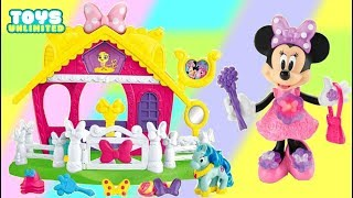 Download MINNIE MOUSE Jump n Stable Pony! Gallops & Train Imaginative Play Video