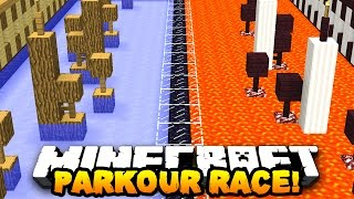 Download Minecraft PRESTONPLAYZ vs LACHLAN PARKOUR! - 1v1 Race Parkour Race Video