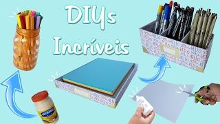 Download 3 DIYs INCRÍVEIS PARA DECORAR SEU HOME OFFICE   Viviane Magalhães Video