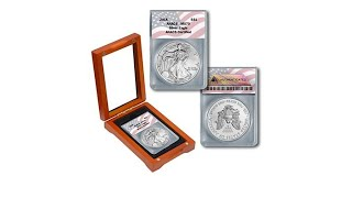 Download 2018 MS70 ANACS WMint Silver Eagle Dollar Coin with Flag... Video