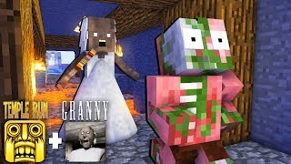 Download Monster School : TEMPLE RUN GAME & GRANNY HORROR - Minecraft Animation Video