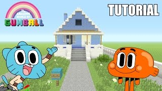 Download Minecraft Tutorial: How To Make ″Gumball's″ House!! ″The Amazing World Of Gumball″ (Survival House) Video