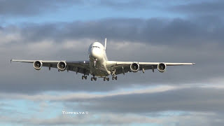 Download Aircraft on final approach to the worlds busiest airport Long queue Video