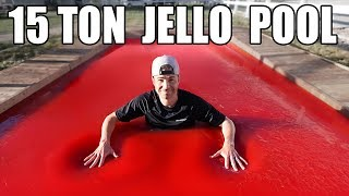 Download World's LARGEST JELLO POOL- Can you swim in Jello? Video