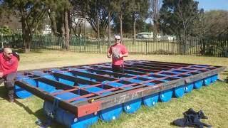 Download Building a Party/Pontoon Barge from start to finish Video