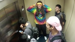 Download TRIPPING BALLS IN THE ELEVATOR PRANK!! Video
