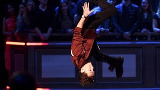 Download Tom Holland THE NEW SPIDER MAN doing flips Video