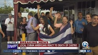 Download South Florida Cuban Americans celebrate the death of Fidel Castro Video