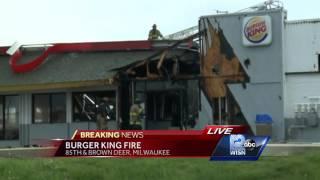 Download Fire causes major damage at Burger King restaurant Video