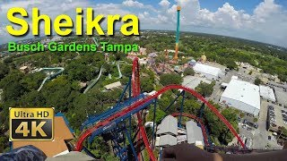 Download Busch Gardens Tampa Sheikra Diving Roller Coaster Front Seat On Ride Ultra HD 4k POV Video