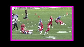 Download Breaking News | American football: Cheap shot in college game stirs national controversy Video