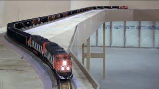 Download HO Tumbler Sub Unit Coal Train With CN SD60F's Video