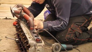 Download How to turbo BMW m50/m52 engine, part 4 - How to make turbo manifold Video