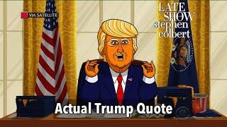 Download Actual Trump Quotes Read By Cartoon Donald Trump Video