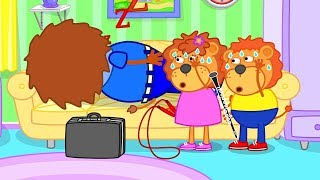 Download Lion Family How to wake up Dad - Mom knows the Secret Cartoon for Kids Video