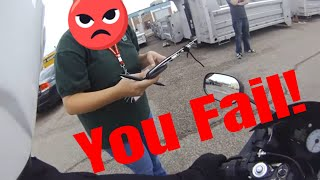 Download How to FAIL a DMV motorcycle skills test POV Video
