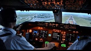 Download KLM B747-400ERF Beautiful Landing at AMS - Cockpit View Video