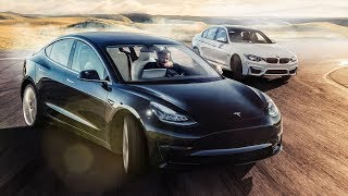 Download TESLA Model 3 vs BMW M3 Track Battle | Top Gear Video