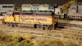 Download HD video: Very realistic model railroad with awful track .wmv Video