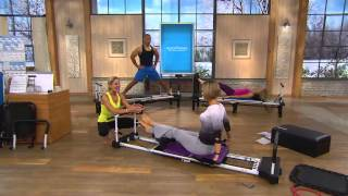 Download AeroPilates Reformer Plus 5 Cord w/ DVD's Pull Up Bar and Rebounder with Kerstin Lindquist Video