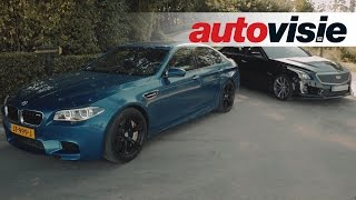 Download Review BMW M5 Competition Package versus Cadillac CTS-V - by Autovisie TV Video