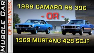 Download 1969 Camaro SS 396 or 1969 Mustang Mach 1 428 Super Cobra Jet? Muscle Car Of The Week Video