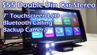 Download $55 Double Din 7″ LCD Touchscreen Bluetooth Car Stereo Video