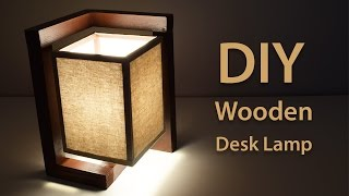 Download How To Build A Wooden Desk Lamp | DIY Project Video
